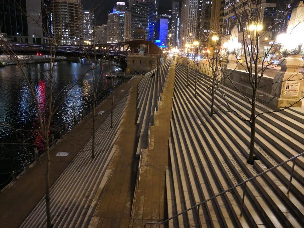 Chicago Riverwalk January 2021